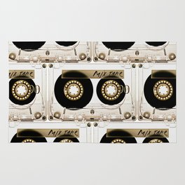 Retro classic vintage transparent mix cassette tape Rug