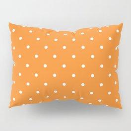 Small White Polka Dots with Orange Background Pillow Sham