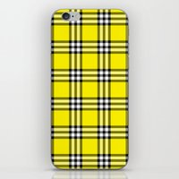 clueless iPhone & iPod Skins featuring As If Plaid by Kat Mun