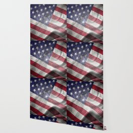 4th of July Fabric of America Wallpaper