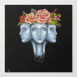 Blank Faces Canvas Print