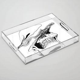 Skull #2 (Liquify) Acrylic Tray