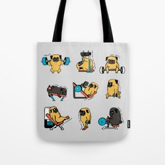 Leg Day with The Pug Tote Bag