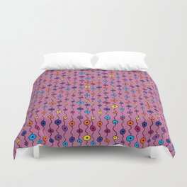 Electric Flower Buds Duvet Cover