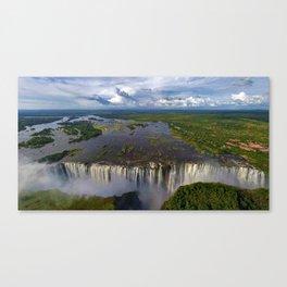 Victoria Falls with Rainbow, Zambia and Zimbabwe, Africa Canvas Print