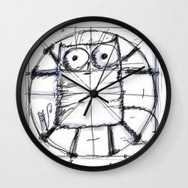 Kot da Vinci (black and whie) Wall Clock
