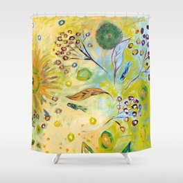 Immersed in Shallow Waters Shower Curtain
