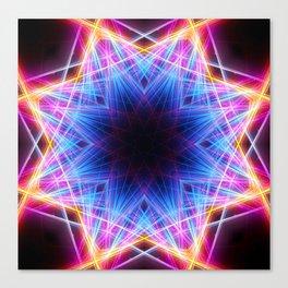 Energy Lasers Mandala Canvas Print