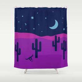 Modern Desert Cactus Scene #desert #cactus Shower Curtain