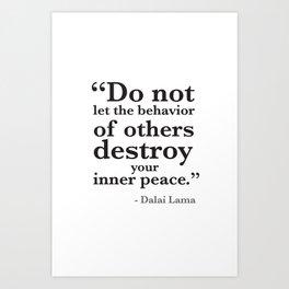Quote 8 Art Print