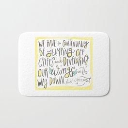 jumping off cliffs - kurt vonnegut quote Bath Mat