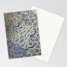 Dual Blooms Stationery Cards