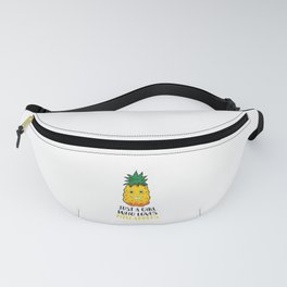 Just a Girl Who Loves Pineapples Summer Cute Pineapple Girl Fanny Pack