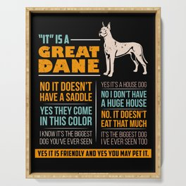 Great Dane Dog Puppy Gift for Dog Lovers & Owners Serving Tray