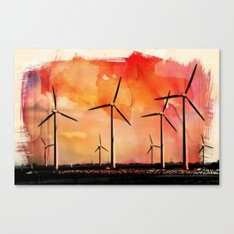 Wind energy Canvas Print