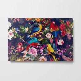 Floral and Birds XLV Metal Print