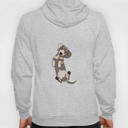 Happy dachshund illustration Hoody