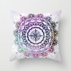 Destination Mandala Throw Pillow