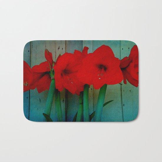 Red Lily Bath Mat