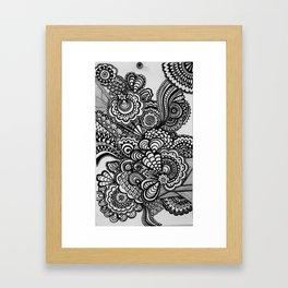 mind spirl Framed Art Print