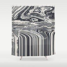 Eye Glitch Art Shower Curtain