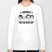anchorman Long Sleeve T-shirts featuring news team - the anchorman by Buby87