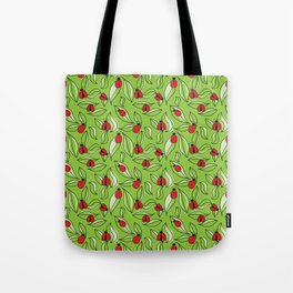 Ladybugs and Leaves Tote Bag