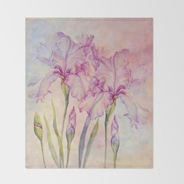 Angel Iris - Pure of Heart Throw Blanket