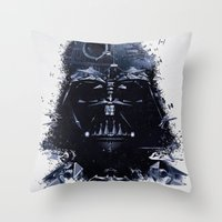 darth vader Throw Pillows featuring Darth Vader by qualitypunk