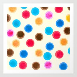 More colourful polka dots Art Print