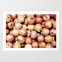 Onions, Onions, Onions! Art Print