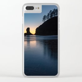 Sea Stack Silhouette Clear iPhone Case