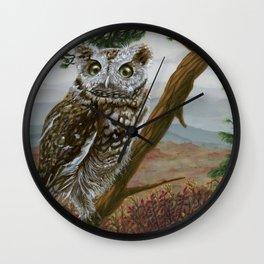 Eastern Screech Owl Wall Clock