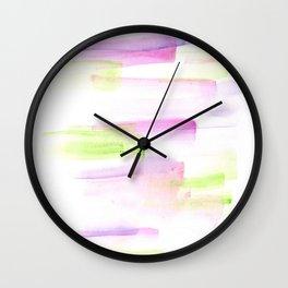 170527 Back to Basic Pastel Watercolour 1 Wall Clock