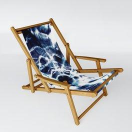 Tie Dye Sunburst Blue Sling Chair