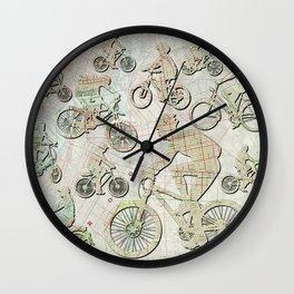 Bike Brooklyn Wall Clock