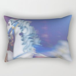 Carousel in the amusement park Rectangular Pillow