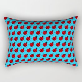 Ladybugs Pattern-Sky Blue Rectangular Pillow
