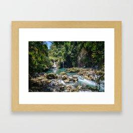 Waterfalls at Semuc Champey Framed Art Print