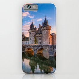 Sully sur Loire at sunset, Loire valley, France. iPhone Case