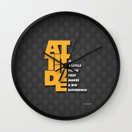 Lab No. 4 - Attitude is a little thing Winston Churchill Inspirational Typography Quotes Poster Wall Clock