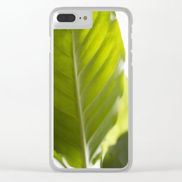 Hojas verdes (1) (green leafs) Clear iPhone Case