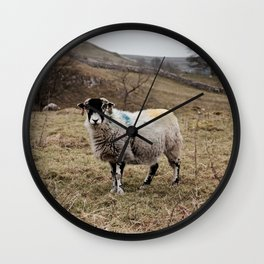 Sheep at Malham Cove in Yorkshire... Wall Clock