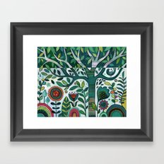 Leafy Garden Framed Art Print