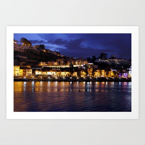Oporto river Art Print