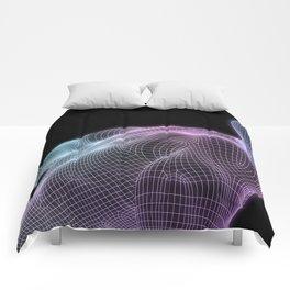 Human Body Digital Visualization Running Forward Art Comforters
