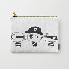 Three Pirates, Black Carry-All Pouch