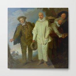 """Antoine Watteau """"The Italian Comedians"""" (II) Metal Print"""