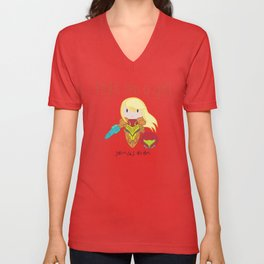 Fight Like a Girl - Samus Aran Unisex V-Neck