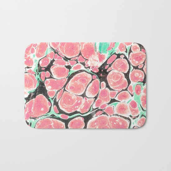 Deliciously Marble #society6 Bath Mat